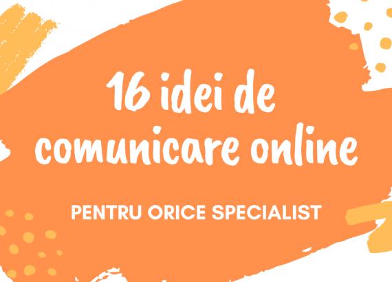 idei de comunicare online